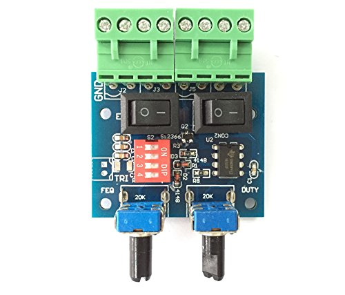 Qianson DC 5V-12V NE555 Pulse Generator Rectangular Wave / Square wave Frequency / Duty Cycle Adjustable Stepper Motor Driver tester