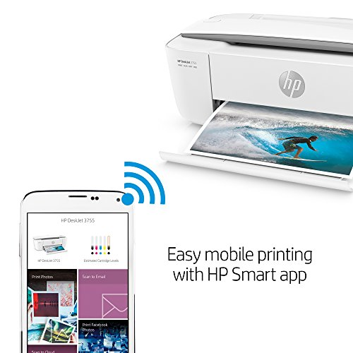 HP DeskJet 3755 Compact All-in-One Wireless Printer with Mobile Printing, HP Instant Ink & Amazon Dash Replenishment ready - Stone Accent (J9V91A) by HP (Image #7)