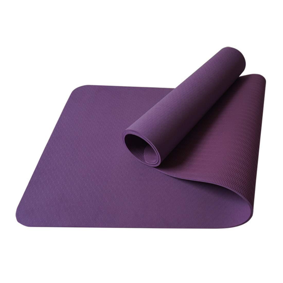 AROTOVL Yogamatte 8mm TPE umweltfreundliche lila Gymnastikmatte Geeignet für Fitnessstudio Familie (Größe   183cm)