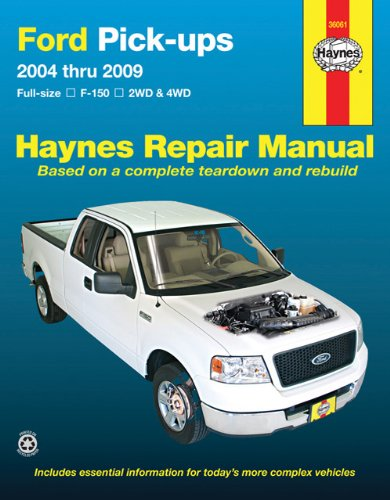 ford full size pick ups f150 04 09 haynes repair manual haynes rh amazon com 2008 f150 service manual 2009 ford f150 factory service manual pdf