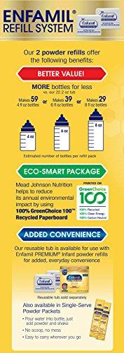 Enfamil PREMIUM Non-GMO Infant Formula - Reusable Powder Tub & Refills, 121.8 oz by Enfamil (Image #9)