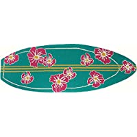 Homefires Accent Rug 21 x 60 SURFBOARD HIBISCUS