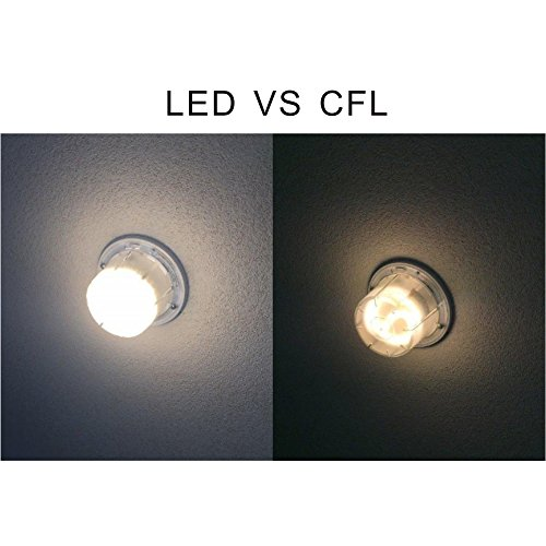 Silverlite Led Puck Gu24 Squat Light Bulb 10w 18watt Low