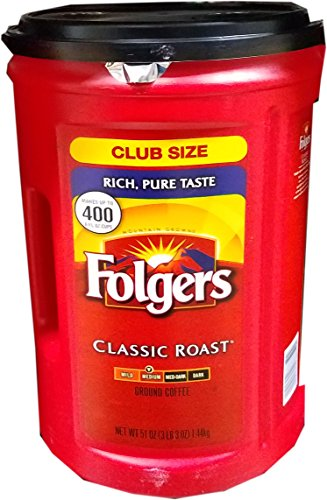 Folgers Classic Roast Ground Coffee Medium Roast 3 Lb. 3 Oz.