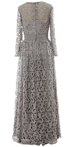 Sleeve Lace MACloth Mother Evening Formal Long Dunkelmarine Gown Women Long Dress Bride of Fqw4T