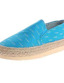 ZQ gyht Zapatos de mujer-Tacón Plano-Comfort / Punta Redonda-Mocasines-Casual-Tela-Azul / Rojo / Azul Real , royal blue-us8 / eu39 / uk6 / cn39 , royal blue-us8 / eu39 / uk6 / cn39