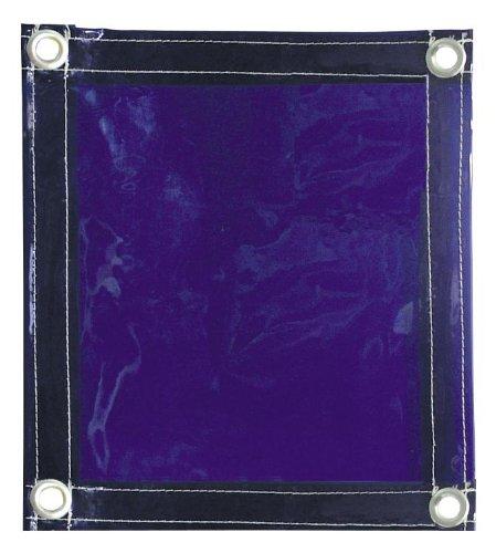Tillman 604R68 6' X 8' 1 Panel Transparent Blue Vinyl Welding Curtain by Tillman