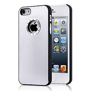 Excelente relación calidad Iphone 5 / 5S Calidad plata simple cepillado caja del diamante de aluminio bling de la cubierta con el lado Negro Borde para el iphone 5 / 5S