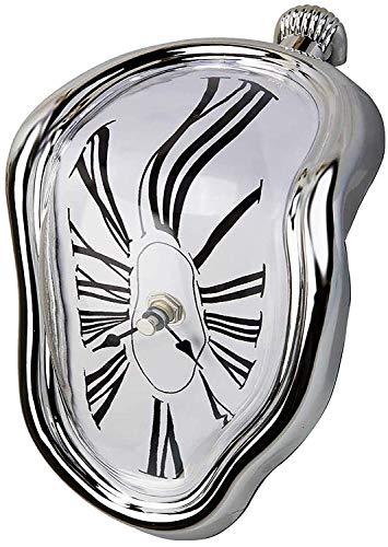 (Sunraiser Dali Melting Clock Decorative Melted Clocks, Salvador Dali Clocks for Living Room Office Table Shelf Desk Home Room Decor Gift, Surrealistic Funny Creative Inspired Women Men)