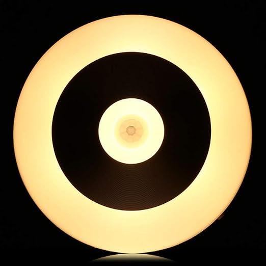 Led Ronda Noche Sensor de Movimiento Sensor Corporal Control de Luz Usb Escalera Baño Pasillo Pared Escaleras Hogar Cambiable: Amazon.es: Iluminación