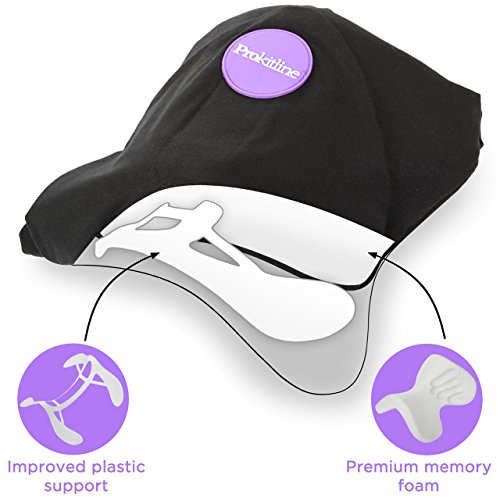 Travel Pillow Set : 100% Cotton Travel Neck Pillow with Memory Foam Support, Sleep Mask, Earplugs - Airplane Pillows - Flight Pillow Wrap for Sleeping Travel Accessories - Travel Essentials Black by Prokitline (Image #2)