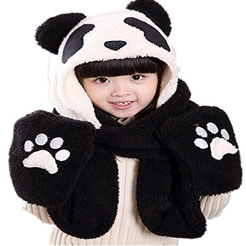 Winter Cute Panda Earmuff Ear Muff Warmer-White - 9