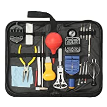 BABAN 22Pcs Professional Watch Back Case Opener Spring Bar Repair Tool Kit (Universal)