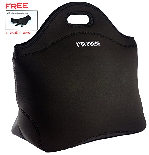 XLarge XThick Insulated Lunch Bag-Premium Neoprene Tote with Shoulder Strap-13x14.5x6.5