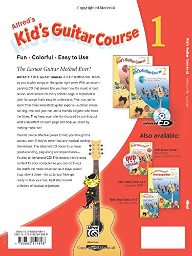 Alfred's Kid's Guitar Course 1: The Easiest Guitar Method Ever! (Book & Enhanced CD)