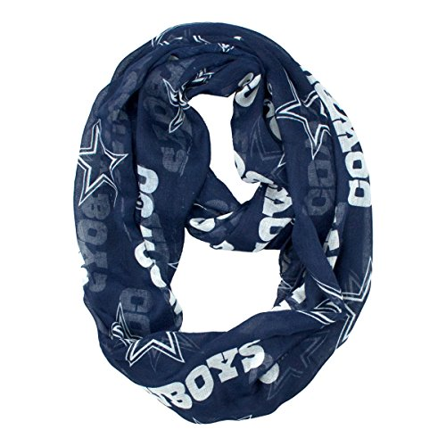 Nfl Dallas Cowboys Clothing (Littlearth NFL Dallas Cowboys Sheer Infinity Scarf)