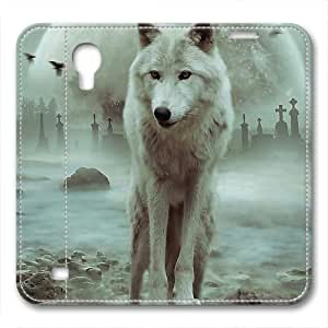 iCustomonline Leather Case for iPhone 6, Wolf Stylish Durable Leather Case for iPhone 6 hjbrhga1544