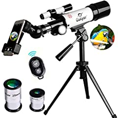 Size:AZ60350  Specifications: Optical Design: Refractor Aperture: 60mm(2.4in) Focal Length: 350mm(13.78in)  Focal Ratio: F5.8 Eyepiece1: 25mm(0.98in) Magnification1: 14X Eyepiece2: 10mm(0.39in)  Magnification2: 35X Max Magnification: 105 Find...