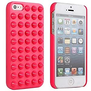 (CASEI)Hi-Q The Punk Style Jelly Ice Cream Rivet Protective Shell Case for iPhone5/5S , Rose
