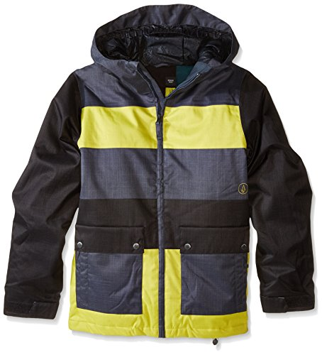 Volcom Boys' Big Chiefdom Insulated Jacket, Citronelle Green, ()