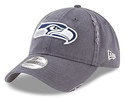 New Era Seattle Seahawks Primary Logo Graphite Rip Right 9TWENTY Adjustable Hat/Cap by New Era