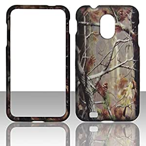 Camo Pine Samsung Epic 4G Touch (Galaxy S II) D710 (Sprint & U.S Cellular) Case Cover Hard Phone Case Snap-on Cover Rubberized Frosted Matte Surface Hard Shells