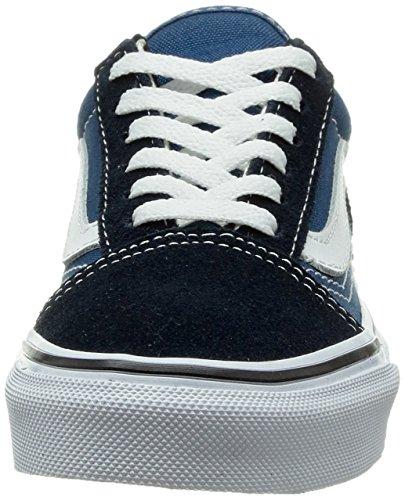 Skate Vans Navy Shoe Skool White Kids Old True ftSz6