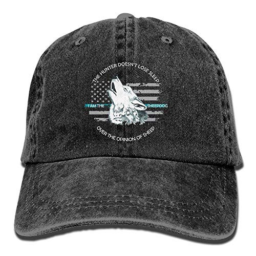 84157c4142a Best For Thin Blue Line Flag Sheepdog Unisex Adjustable Cotton Denim Hat  Washed .