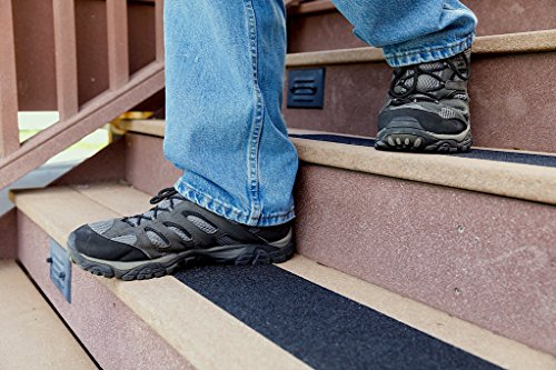 """Slip Guard Non-Slip Stair Tape - Indoor & Outdoor Waterproof Safety Steps, 4"""" x 15'' ft, 80 Grit, Black by Slip Guard (Image #1)"""