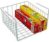 DecoBros Under Shelf Basket Wrap Rack, White (Kitchen)