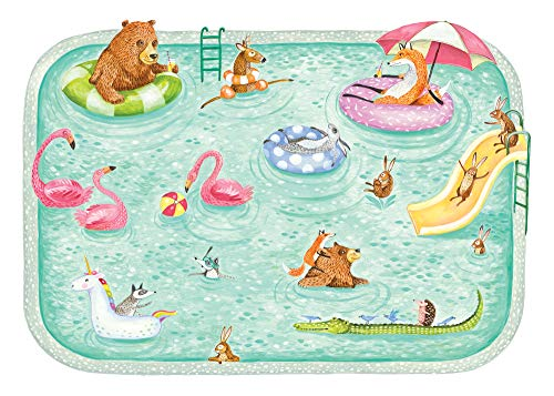 Hester & Cook Pool Party Die Cut Paper Placemat, Pack of 12