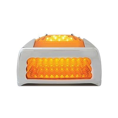 Grand General 77234 Amber Spyder 42-LED Peterbilt Headlight Turn Signal Sealed Light with Chrome Bezel: Automotive