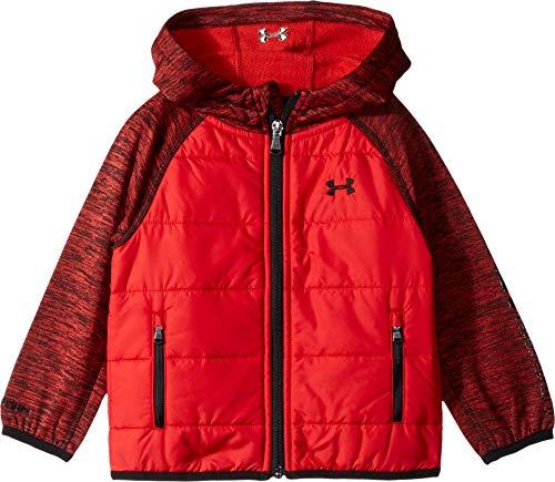 (Under Armour Boys' Big Day Trekker Hooded Hybrid Jacket, red Small)