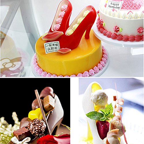 Calistouk DIY Molde de pastel zapatos de tacón alto arte de azúcar Fondant para hornear chocolate molde: Amazon.es: Hogar