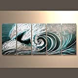 Yihui Arts Handmade Popular Sea Weaves Metal Wall Art Decor With Metal Hanger Directly 24Hx65L