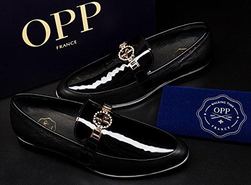 OPP - Zapatos de cordones de Piel para hombre negro