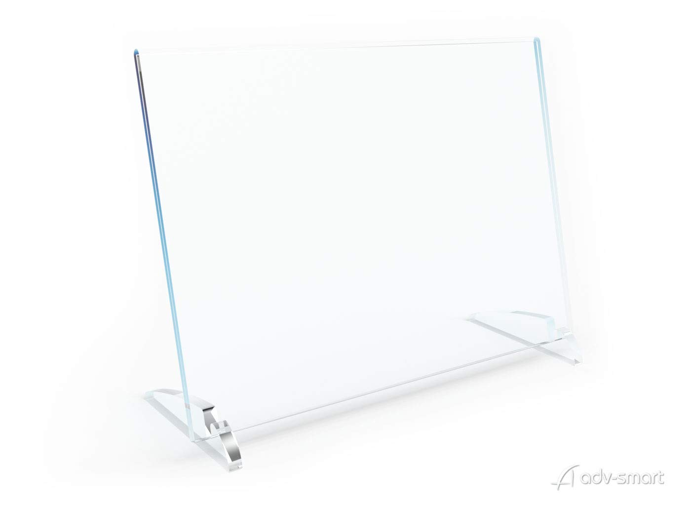 formato A4 orizzontale 30x21 cm Messaggio Informazioni acrilico plexiglas casted adv-smart Porta Depliant da Banco Avvisi