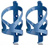 50 Strong Bicycle Water Bottle Cage 2 Pack - Made in USA - Easy to Install - Lightweight Holder Fits Most Cycling Bottles - Easy to Mount on Bike