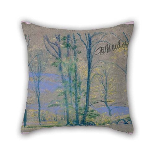 Throw Pillow Covers Of Oil Painting Arthur B. Davies - Landscape With Trees From A.B. Davies Book, Edition -23, 50 For Son Boys Play Room Living Room Monther Indoor 16 X 16 Inches / 40 By 40 Cm(ea