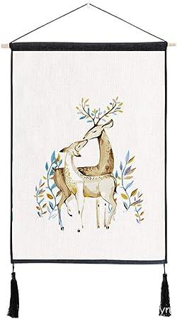 mmzki Simple Dibujos Animados Colgando Tela Planta algodón Lino Arte Pintura Q 45x65 cm: Amazon.es: Hogar