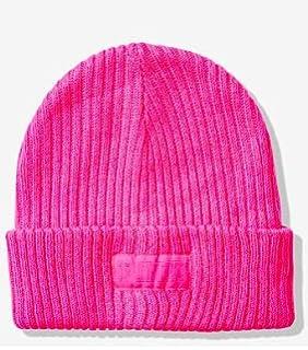 Victorias Secret PINK Beanie Winter Hat One Size Light Blue
