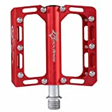 ROCKBROS Ultra-light Mountain Bike Pedals Flat Alloy Sealed Bearing CNC Spindle Hollow-out