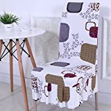 TDLC Fabrics home stretch twin chairs set European dress, upholstery seat bench dining table and chairs set back Upholstery Cover 3