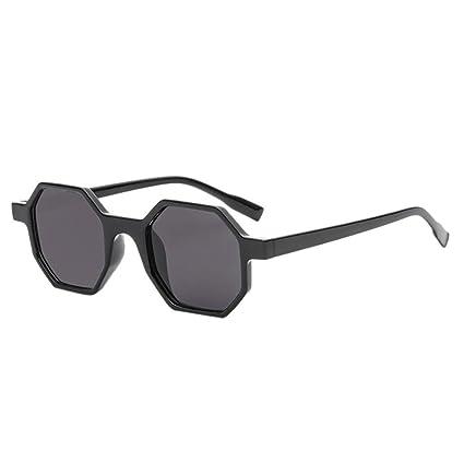 Sunday Gafas de Sol de Moda Vintage Retro Unisex Gafas de Sol Poligonal Gafas Rómbica (