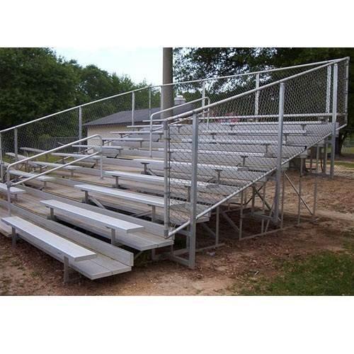 VIP Bleacher w 8 Rows and Fence Railing