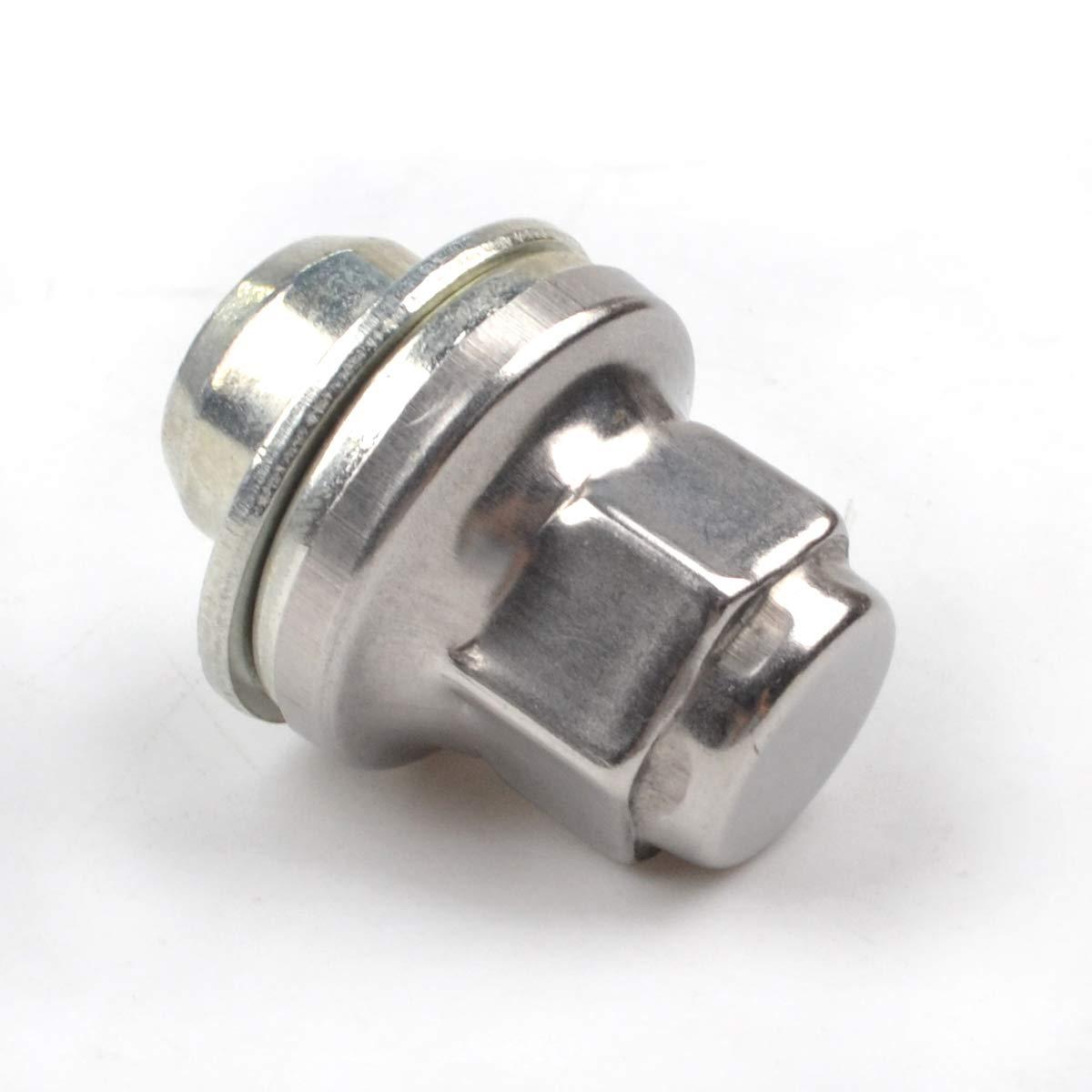 RunQiao Replacement Alloy Wheel Nuts Chrome Lug Bolt Stud M12 x 1.5 Thread 4 PCS