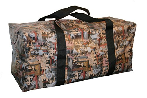 Lapco FR LAP-BVOFC1436 Heavy-Duty Weather-Resistant Vinyl Bag, 18 oz, Large, Oilfield Camo