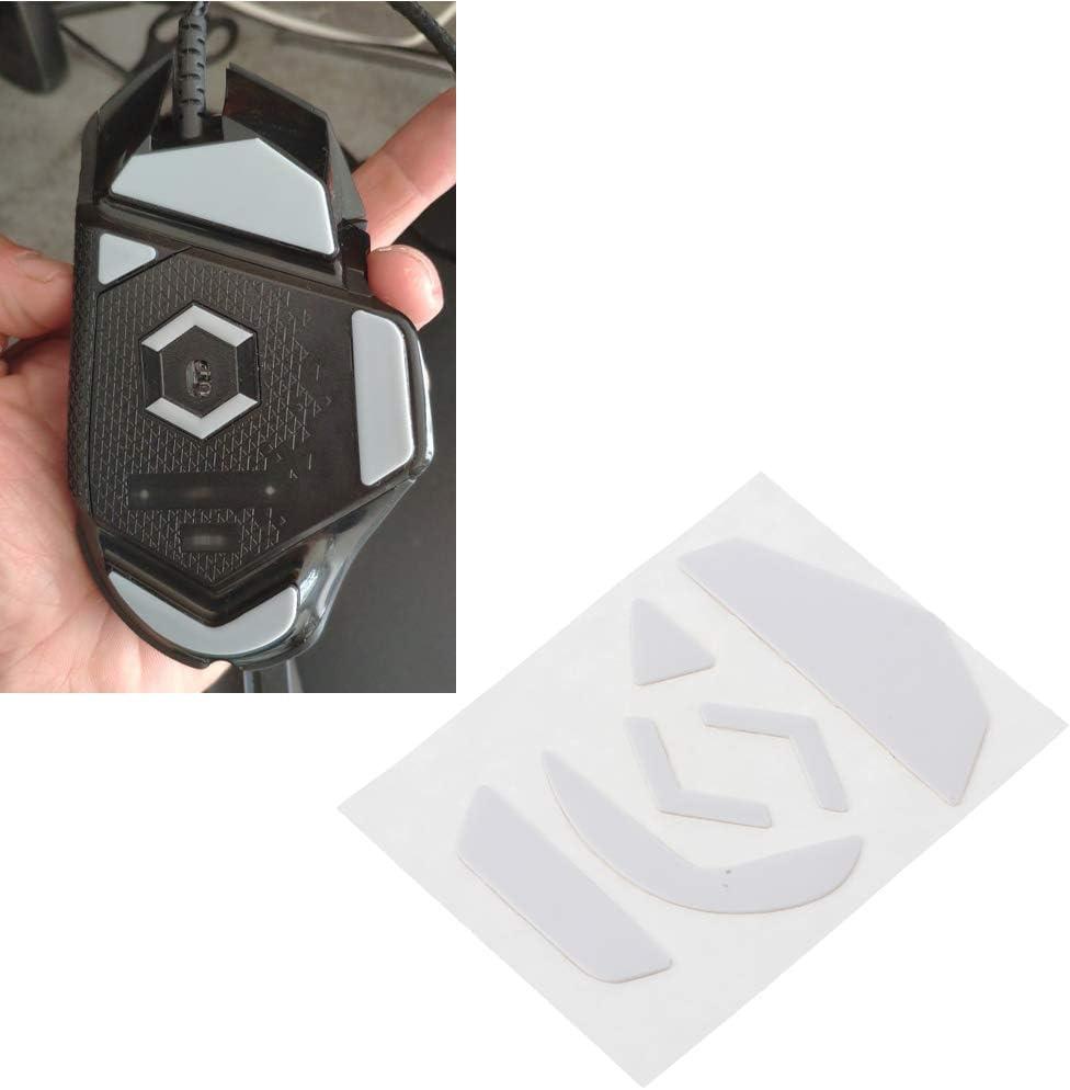 Heyuan 1 Set 0.6mm White Curve Edge Mouse Feet Mouse Skates for Logitech G502 Mouse