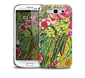 pink floral jungle Samsung Galaxy S3 GS3 protective phone case by runtopwell
