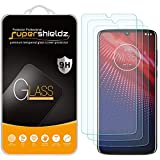 (3 Pack) Supershieldz for Motorola Moto Z4 Tempered Glass Screen Protector, Anti Scratch, Bubble Free